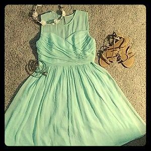 Mint green short formal dress